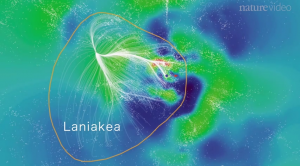 Mapa de potencial para as estruturas do Laniakea.