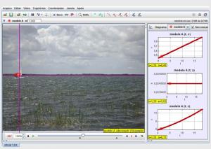 Determinação da velocidade do barco vela através de vide-analise.