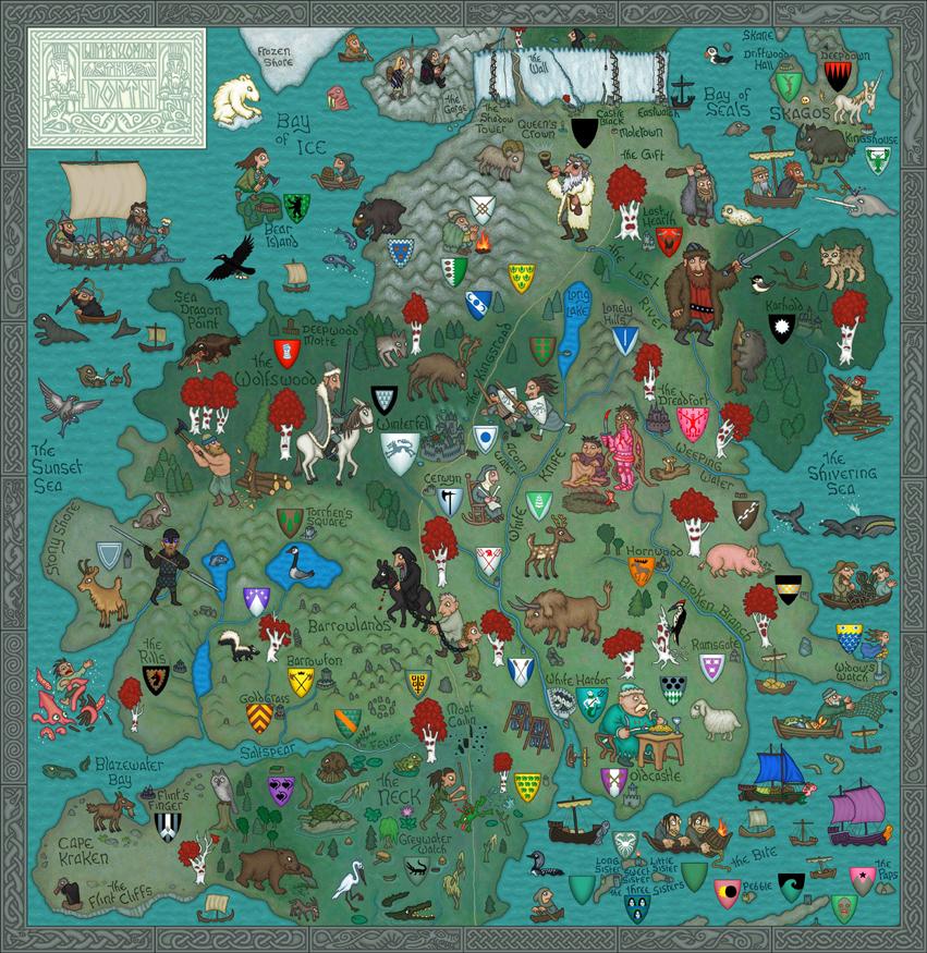 Mapa informal para a astronomia e o mundo de game of thrones.