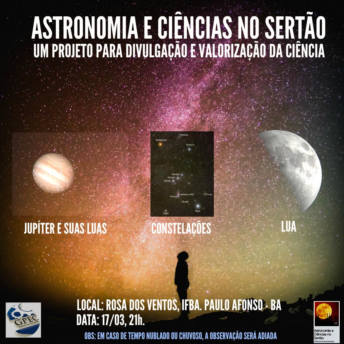 Extensão em astronomia no sertão.