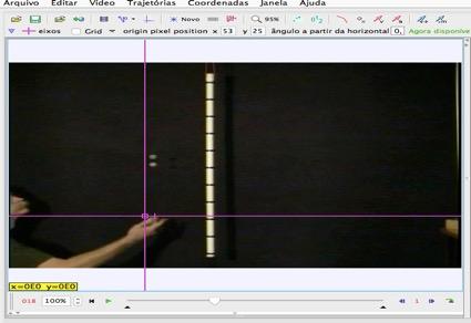 Videoanálise: ajuste de sistema de coordenadas
