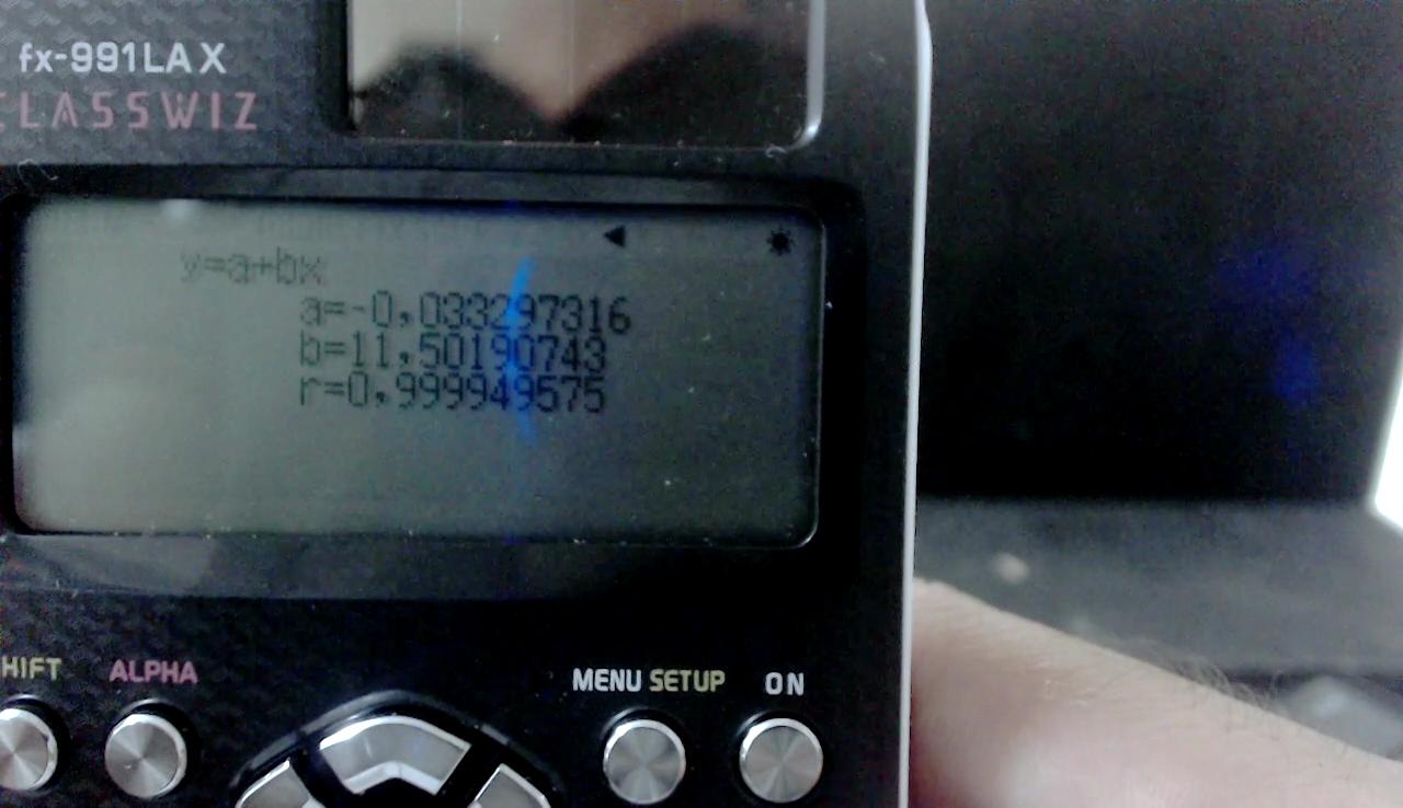 Regressão linear com Calculadora Científica Cássio FX-991LAX